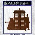 Doctor Who TARDIS Dalek INT Decal Sticker Brown Vinyl 1 120x120