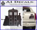 Doctor Who TARDIS Dalek INT Decal Sticker Carbon Fiber Black 1 120x97