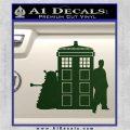 Doctor Who TARDIS Dalek INT Decal Sticker Dark Green Vinyl 1 120x120