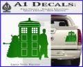 Doctor Who TARDIS Dalek INT Decal Sticker Green Vinyl 1 120x97