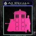 Doctor Who TARDIS Dalek INT Decal Sticker Hot Pink Vinyl 1 120x120