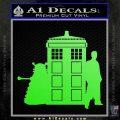 Doctor Who TARDIS Dalek INT Decal Sticker Lime Green Vinyl 1 120x120