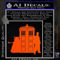 Doctor Who TARDIS Dalek INT Decal Sticker Orange Vinyl Emblem 1 120x120