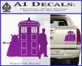 Doctor Who TARDIS Dalek INT Decal Sticker Purple Vinyl 1 120x97