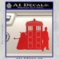 Doctor Who TARDIS Dalek INT Decal Sticker Red Vinyl 1 120x120