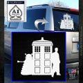 Doctor Who TARDIS Dalek INT Decal Sticker White Emblem 1 120x120