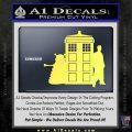 Doctor Who TARDIS Dalek INT Decal Sticker Yelllow Vinyl 1 120x120