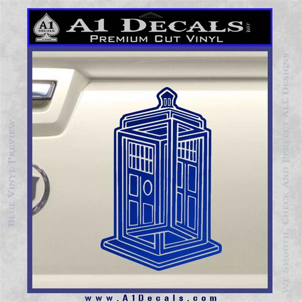 Doctor Who TARDIS Impossible Decal Sticker Blue Vinyl