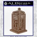 Doctor Who TARDIS Impossible Decal Sticker Brown Vinyl 120x120