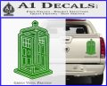 Doctor Who TARDIS Impossible Decal Sticker Green Vinyl 120x97