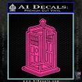Doctor Who TARDIS Impossible Decal Sticker Hot Pink Vinyl 120x120