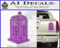 Doctor Who TARDIS Impossible Decal Sticker Purple Vinyl 120x97