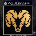 Dodge Ram Logo Tribal Decal Sticker Metallic Gold Vinyl 120x120