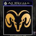 Dodge Ram Sleek Logo Decal Sticker Metallic Gold Vinyl 120x120