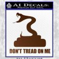 Dont Tread On Me D3 Decal Sticker Brown Vinyl 120x120