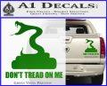 Dont Tread On Me D3 Decal Sticker Green Vinyl 120x97