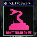 Dont Tread On Me D3 Decal Sticker Hot Pink Vinyl 120x120
