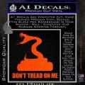 Dont Tread On Me D3 Decal Sticker Orange Vinyl Emblem 120x120