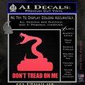 Dont Tread On Me D3 Decal Sticker Pink Vinyl Emblem 120x120