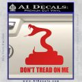 Dont Tread On Me D3 Decal Sticker Red Vinyl 120x120