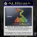 Dont Tread On Me D3 Decal Sticker Sparkle Glitter Vinyl 120x120