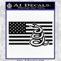 Dont Tread On Me Gadsden Snake American Flag Decal Sticker Black Logo Emblem 120x120