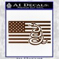 Dont Tread On Me Gadsden Snake American Flag Decal Sticker Brown Vinyl 120x120