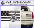 Dont Tread On Me Gadsden Snake American Flag Decal Sticker Carbon Fiber Black 120x97