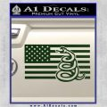 Dont Tread On Me Gadsden Snake American Flag Decal Sticker Dark Green Vinyl 120x120