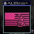 Dont Tread On Me Gadsden Snake American Flag Decal Sticker Hot Pink Vinyl 120x120