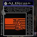 Dont Tread On Me Gadsden Snake American Flag Decal Sticker Orange Vinyl Emblem 120x120