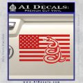 Dont Tread On Me Gadsden Snake American Flag Decal Sticker Red Vinyl 120x120