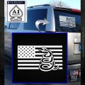 Dont Tread On Me Gadsden Snake American Flag Decal Sticker White Emblem 120x120