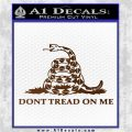 Dont Tread On Me Snake Intricate Decal Sticker Brown Vinyl 120x120