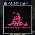 Dont Tread On Me Snake Intricate Decal Sticker Hot Pink Vinyl 120x120