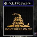 Dont Tread On Me Snake Intricate Decal Sticker Metallic Gold Vinyl 120x120