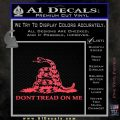 Dont Tread On Me Snake Intricate Decal Sticker Pink Vinyl Emblem 120x120