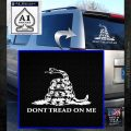 Dont Tread On Me Snake Intricate Decal Sticker White Emblem 120x120