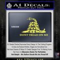 Dont Tread On Me Snake Intricate Decal Sticker Yelllow Vinyl 120x120