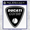 Ducati Corse D1 Decal Sticker Black Logo Emblem 120x120