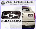 Easton Archery Logo Decal Sticker Carbon Fiber Black 120x97