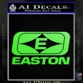 Easton Archery Logo Decal Sticker Lime Green Vinyl 120x120