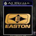 Easton Archery Logo Decal Sticker Metallic Gold Vinyl 120x120