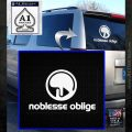 Eden of the East Decal Sticker Noblesse Oblige White Emblem 120x120