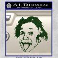 Einstein Sticking Tongue Out Decal Sticker Dark Green Vinyl 120x120