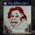 Einstein Sticking Tongue Out Decal Sticker Dark Red Vinyl 120x120