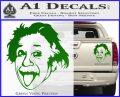 Einstein Sticking Tongue Out Decal Sticker Green Vinyl 120x97