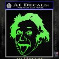 Einstein Sticking Tongue Out Decal Sticker Lime Green Vinyl 120x120
