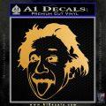 Einstein Sticking Tongue Out Decal Sticker Metallic Gold Vinyl 120x120