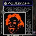 Einstein Sticking Tongue Out Decal Sticker Orange Vinyl Emblem 120x120